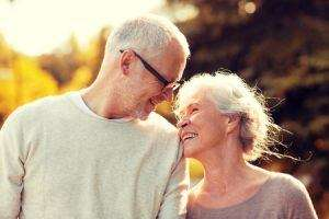 Senior couple, cremation planning