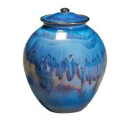 Corona ceramic urn