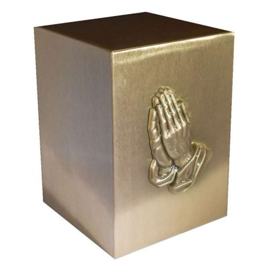 Praying Hands Bronze Urn