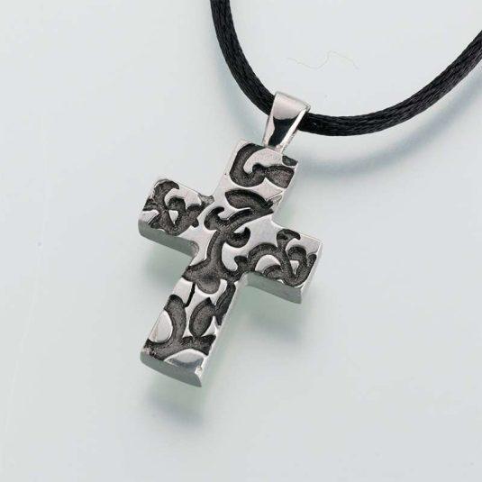 Pewter Cross w/ Antique Filigree Design