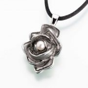 Antique Pewter Rose w/ Pearl